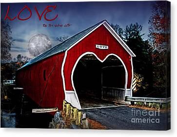 Canvas Print featuring the photograph Love Is In The Air by DJ Florek