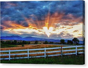 Canvas Print featuring the photograph Love Is In The Air by James BO Insogna