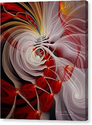 Love Is Like A Fire Canvas Print by Gayle Odsather