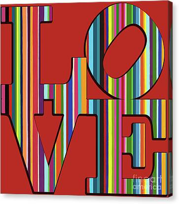 Canvas Print featuring the mixed media Love Is Love by Carla Bank