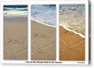 Love Is Not Always Made To Be Forever Canvas Print by Susanne Van Hulst