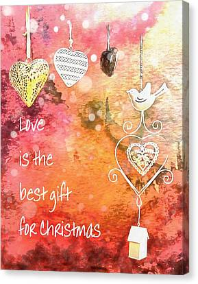 Love Is The Best Gift For Christmas Canvas Print
