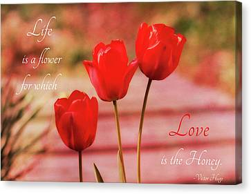 Canvas Print featuring the photograph Love Is The Honey by Trina Ansel