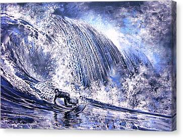 Love Is The Seventh Wave Canvas Print by Miki De Goodaboom