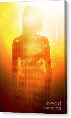 Love Is The Truth. Light Is The Way Canvas Print