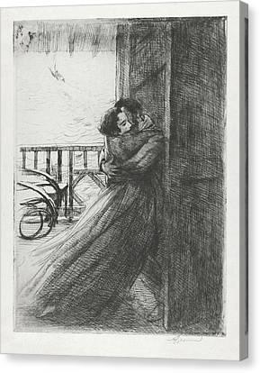 Love - La Femme Series Canvas Print by Paul-Albert Besnard