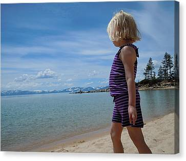 Canvas Print featuring the photograph Love Lake Tahoe by Dan Whittemore