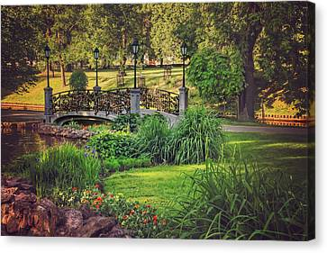 Love Lock Bridge Riga  Canvas Print