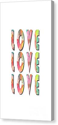 Nuptials Canvas Print - Love Love Love Phone Case by Edward Fielding