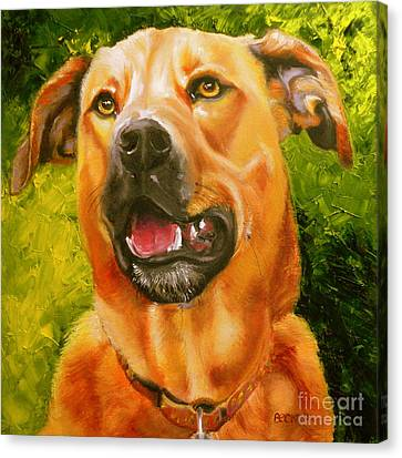 Ridgeback Canvas Print - Love Love Me Do by Susan A Becker