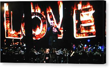 Love Me Some George Michael And Adele Canvas Print by Toni Hopper