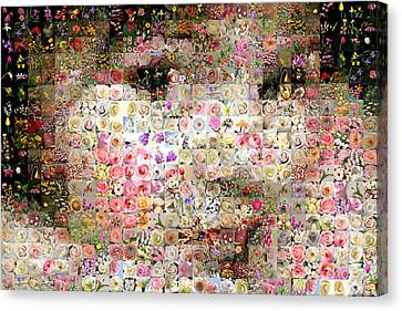 Canvas Print - Love Me With Flowers by Gilberto Viciedo