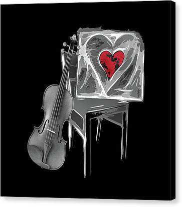 Love Melody Canvas Print by Manfred Lutzius