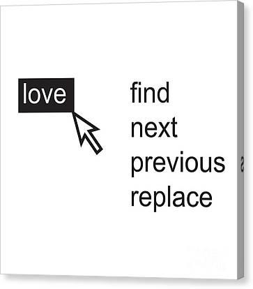 Love Menu Canvas Print by Igor Kislev