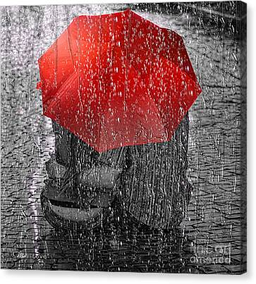 Water Drops Canvas Print - Love by Mo T
