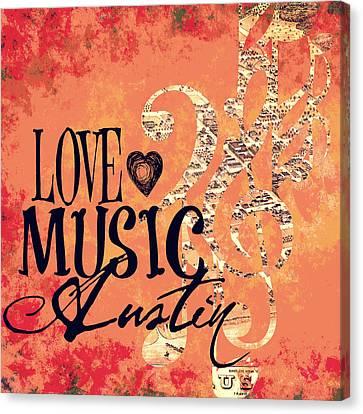 Love Music Austin Canvas Print by Brandi Fitzgerald