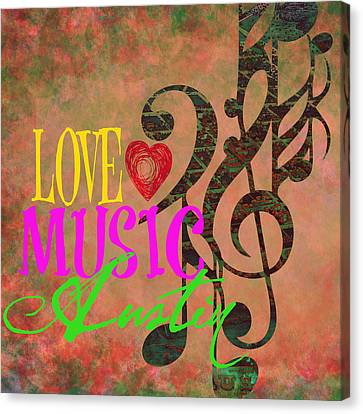 Love Music Austin V2 Canvas Print by Brandi Fitzgerald