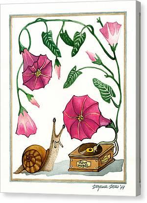 Love Music Canvas Print by Deyana Deco