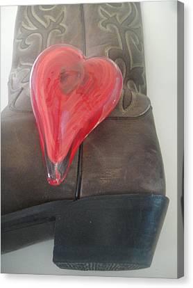 Love My Boots Canvas Print by WaLdEmAr BoRrErO