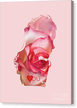 Petra Canvas Print - Yes Love You,  Rose 0509 by Johannes Murat