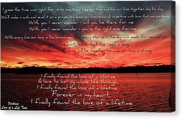 Love Of A Lifetime Canvas Print by Cyryn Fyrcyd