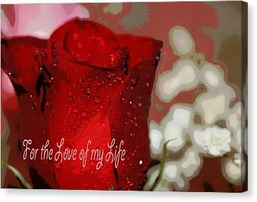 Divine Breath Canvas Print - Love Of My Life by Dianne Cowen