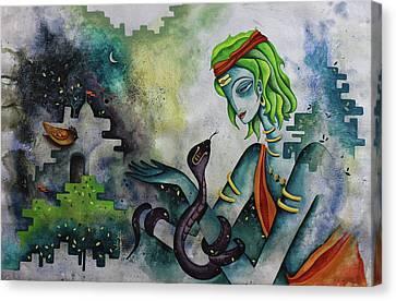Love Of Shiva Canvas Print by Rohan Sandhir