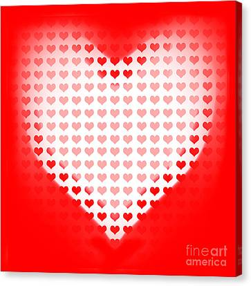 Love Of Valentines Background. Big Red Heart Canvas Print by Jorgo Photography - Wall Art Gallery