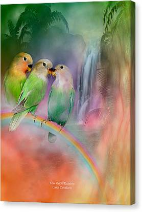 Love On A Rainbow Canvas Print
