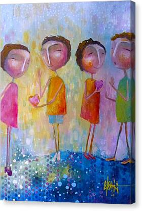 Canvas Print featuring the painting Love One Another by Eleatta Diver