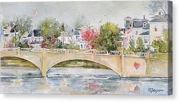 Love Over Asbury Canvas Print by MG Ferguson