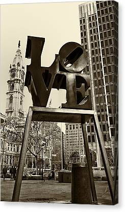 Philadelphia Canvas Print - Love Philadelphia by Jack Paolini