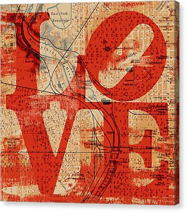 Philly Love V2 Canvas Print by Brandi Fitzgerald