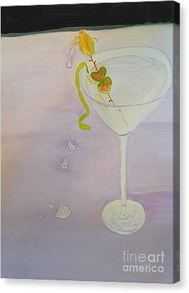 Love Potion Valen-tini In Moderation Canvas Print by ARTography by Pamela Smale Williams