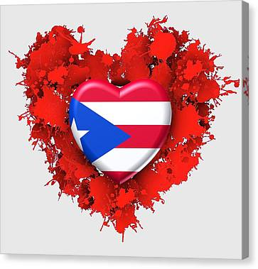 Love Puerto Rico Canvas Print
