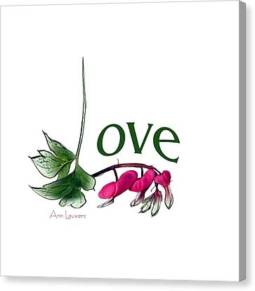 Canvas Print featuring the digital art Love Shirt by Ann Lauwers