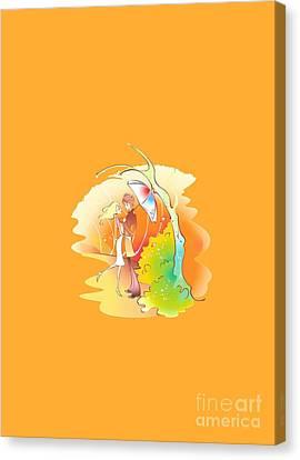 Love Shower T-shirt Canvas Print