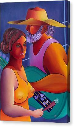 Canvas Print featuring the painting Love Song by Karin Eisermann