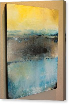 Canvas Print featuring the painting Love Song by Tamara Bettencourt
