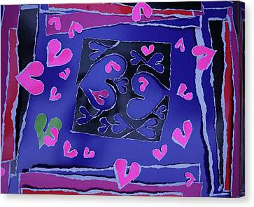 Love Soul Love Skeloton And The Subject Of Life Canvas Print by Kenneth James