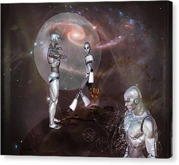 Love Triangle 2215 Canvas Print by Terry Fleckney