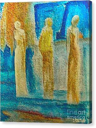 Canvas Print featuring the mixed media Love Triangle by Dragica  Micki Fortuna