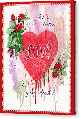 Love Valentine Canvas Print by Marilyn Smith