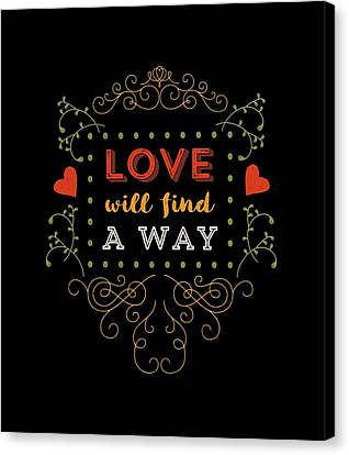 Love Will Find A Way Canvas Print by Antique Images