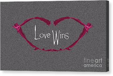 Love Making Canvas Print - Love Wins by Charlie Cliques