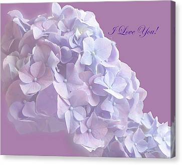 Love You Greetingcard Canvas Print