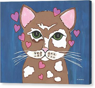 Loveable Cat Canvas Print by Kathleen Sartoris