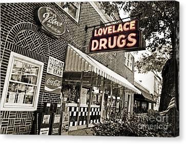 Lovelace Drugs Canvas Print by Scott Pellegrin