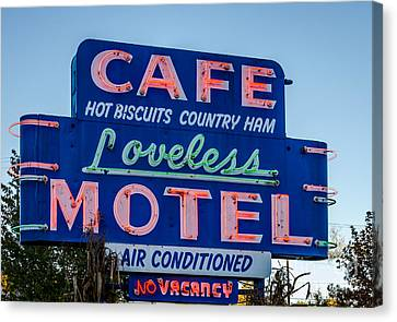 Loveless Cafe And Motel Sign Canvas Print
