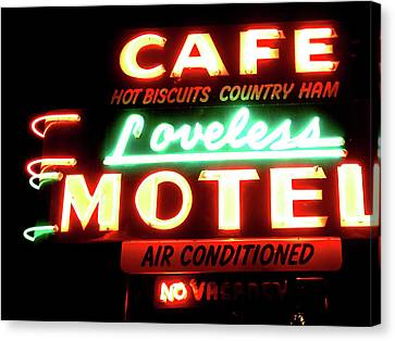 Loveless Cafe- Art By Linda Woods Canvas Print by Linda Woods